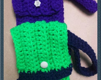 Crocheted Cell Phone Holder - Free Shipping