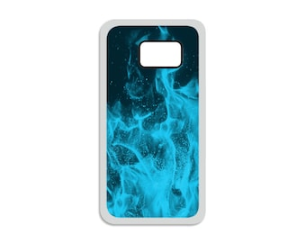 Blue Flames Samsung Case