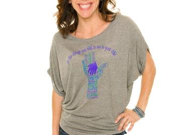 BE THE CHANGE Eco-friendly, Organic Women's Scoop Neck 70/30 Bamboo/Organic Cotton
