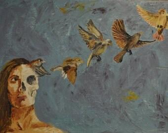 "Bird Painting- ""Soul Flying"""