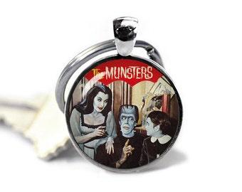 The Munsters Keychain Key Ring Fandom Munsters Keyfob Fandom Jewelry Cosplay Fangirl Fanboy