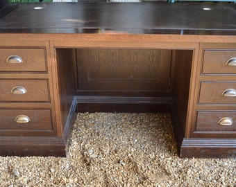 Bespoke Leather Inlay Desk