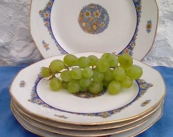 French vintage Limoges dinner plates. 6 Jean Boyer plates.