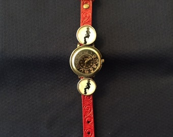 Genuine Leather Snap Watch with Snaps of your choice