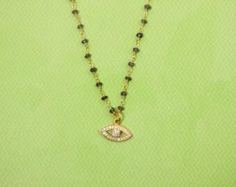 Cleo Charm Necklace - Evil Eye