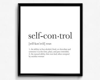 Self Control Etsy