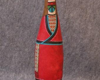 Fine gourd art sculptural southwestern maiden