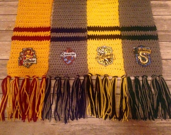 Harry Potter Inspired Scarf, Hogwarts Scarf, House Scarf