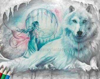 Fantasy Wolf Etsy