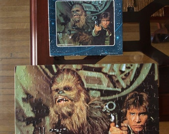 1977 Star Wars 140 Piece Puzzle with Han and Chewbacca all 140 pieces are enclosed