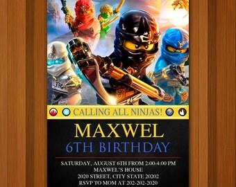 Ninjago Lego Invitation,Ninjago Lego Invitation Birthday,Ninjago Lego Birthday,Ninjago Lego Party,Invitation,Birthday,Party,Card Party,Card