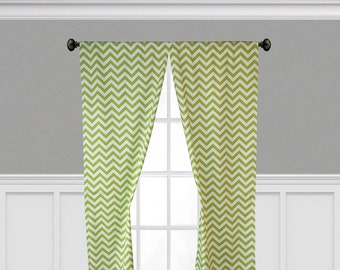 Lime Green Curtains Etsy