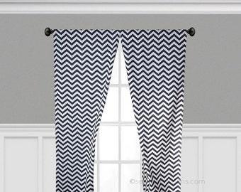 Navy Blue Curtains Window Treatments Chevron Curtain Panels Custom Drapery  Nursery Navy Blue Zig Zag Nautical