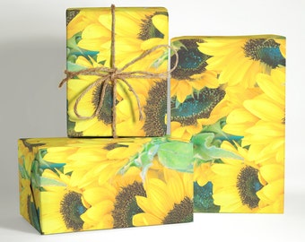 Sunflower Wrapping Paper; Wedding Wrapping Paper; Flower Wrapping Paper; Wrapping Paper; Sunflower Pattern Wrapping Paper; Sunflower Pattern