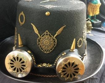 steampunk hat  & accessories hand made
