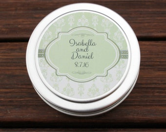 Wedding Favors-Set Of 12-Soy Candle Travel Tin 4 oz-Candle Favors-Party Favors