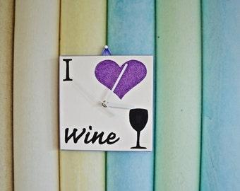 I Love Wine Clock