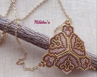 Handmade Necklace, Miyuki Necklace, Peyote Necklace