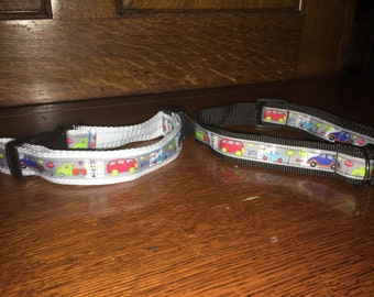 White Beep beep dog collar