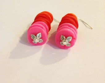 Colourful clay earrings