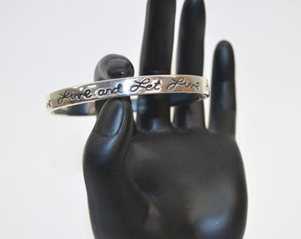 Live and Let Live Bangle