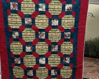 Christmas Kittens Baby Quilt