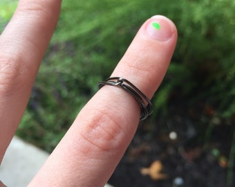 Wire Wrapped Knotted Ring