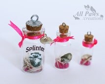 Photo quill jars - hedgehog keepsake with your own photo