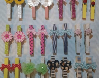 Custom clothespin set