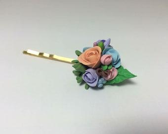 Flower hair pin for flower girl