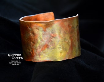 Warm tones copper cuff