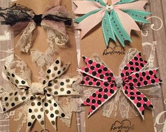 Girls starburst hair bows