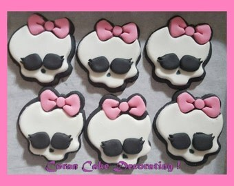 Edible Fondant Monster High Cupcake Toppers x 6 ... 4.5cms, Any Colours