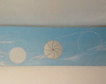 UFO acrylic painting on canvass