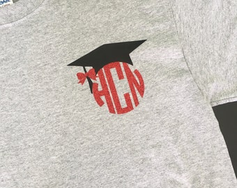 2018 Senior Shirt-Monogrammed Shirt-Graduation Shirt-2018 Graduate