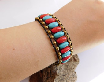 Colorful Braided Howlite Stone Bracelet_GDE.04510583547_Fashion accessories_Gift iDEAS