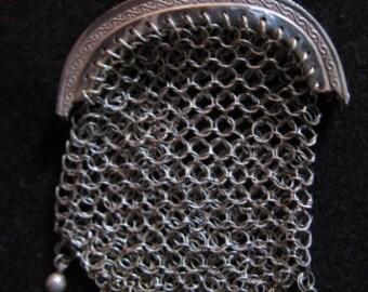 Original silver dolls handbag, marked, Art Nouveau ca.1900 ...