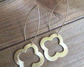 Gold Ouatrefoil Earringss