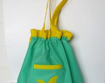 Roomy original eco bag tightened with pocket