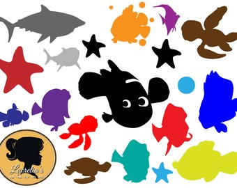 Finding Nemo svg, Dory SVG, svg cutting file, use as clipart,Silhouette Cameo,cricut, vinyl, Finding nemo clipart, finding dory, svg files