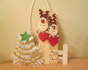 reindeer family of 2 for you to personalize