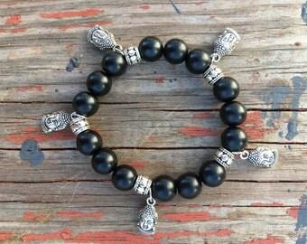 Buddha Matte black Bracelet