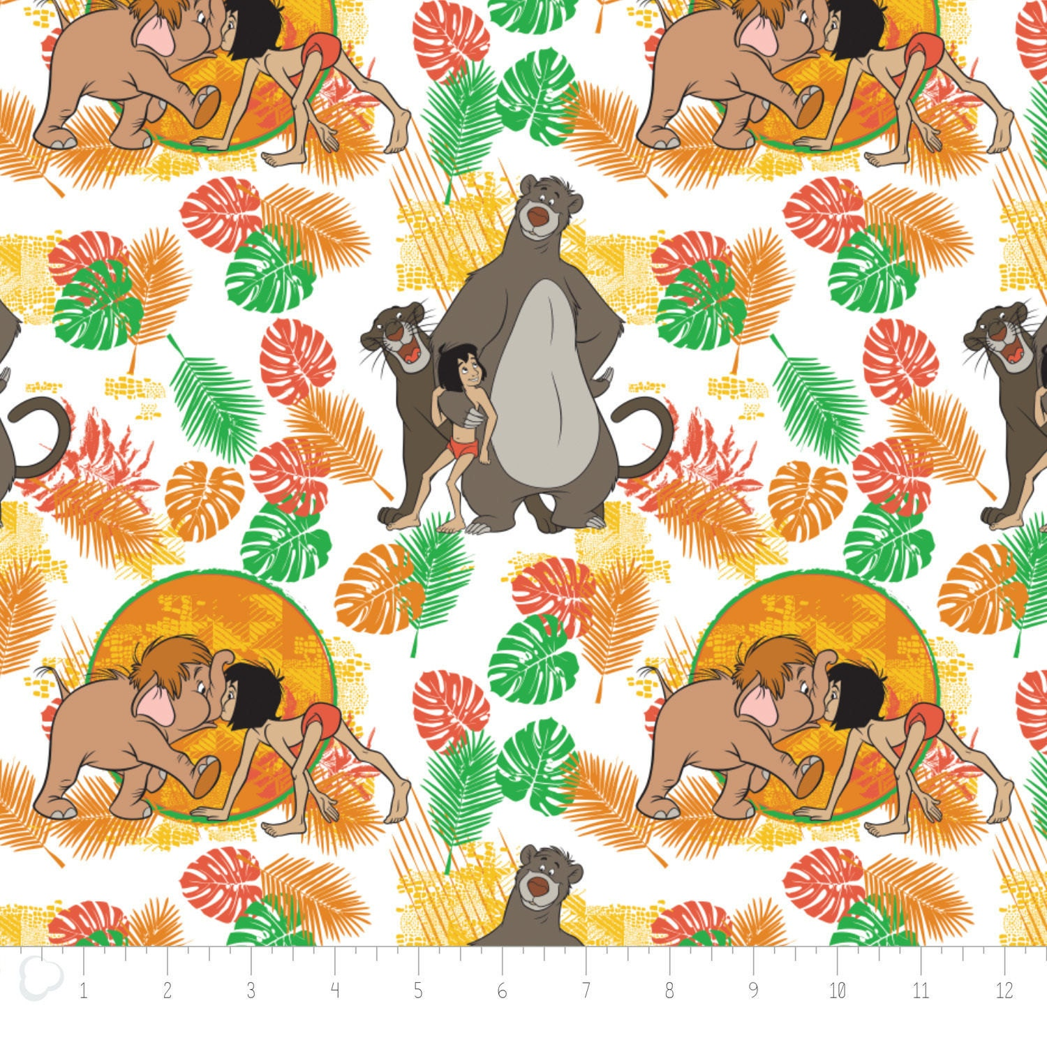 Disney fabric jungle book fabric the jungle book for Childrens jungle fabric