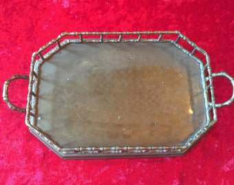 Brass Bamboo Serving Tray