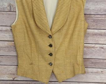 Vintage Striped Yellow Vest