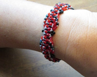 Red and Black Fashion Bracelet