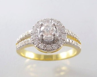 custom made#Diamond Ring, 14K/18K Yellow Gold #Engagement Ring, Natural Diamond Ring# Unique Rings