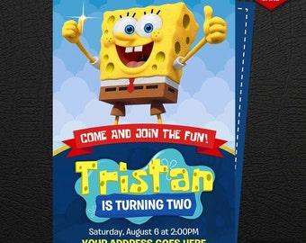 SpongeBob Invitation, SpongeBob Birthday Invitation, SpongeBob SquarePants Invites, SpongeBob Birthday