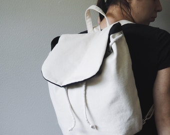 Handmade Cotton Canvas Mini Backpack