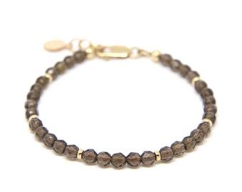 Smokey Quartz Bracelet, gemstone bracelet.
